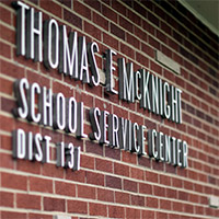 Thomas McKnight School Service Center Sign